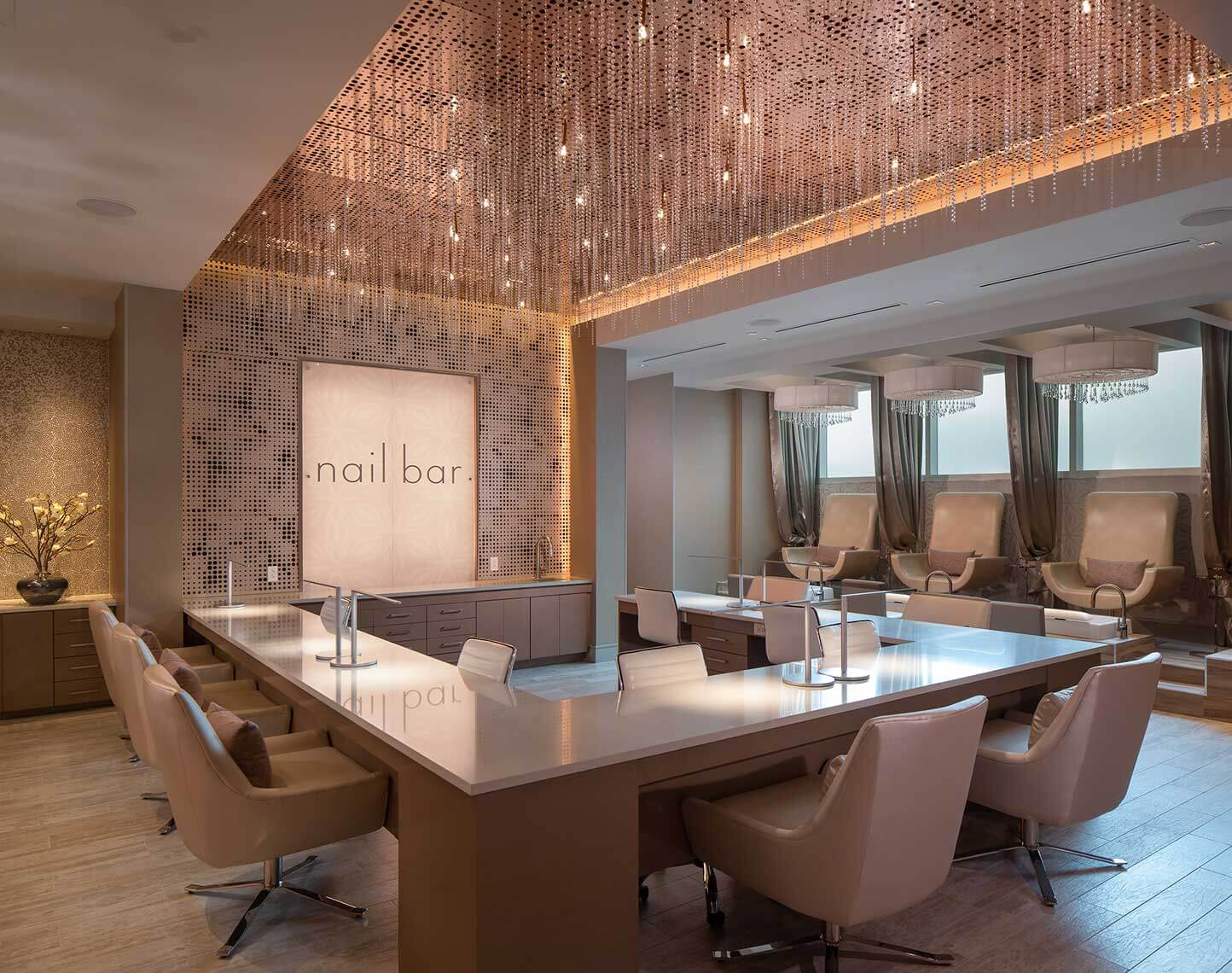 Wind Creek Wetumpka Spa Reserve | Nail Bar<br>Dale Partners / Triptek Construction / Lexi Design